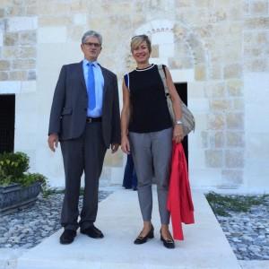 Formand for Folketinget, Mogens Lykketoft  og jeg foran St. Pierre Church i Hayat  på Præsidiets rejse til Tyrkiet.