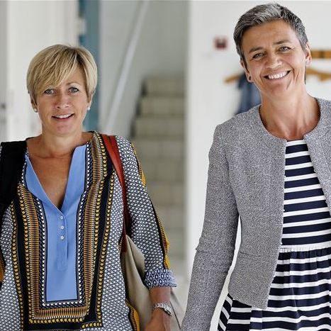 Margrethe vestager og Lone Loklindt